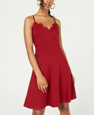 Rosie Harlow Juniors' Scalloped Fit & Flare Dress $39 Size M # 3A 1402 Blm