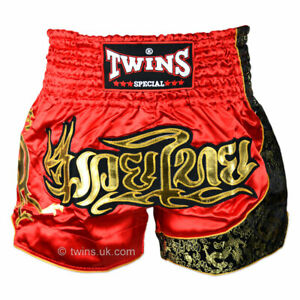 Twins TWS-151 Adults Red/Gold Muay Thai Fight Shorts Training Trunks K1