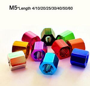 M5 Threaded Rod/Bar/Stud/Hexagon Hex Connector Nut Long Nuts Aluminium Alloy