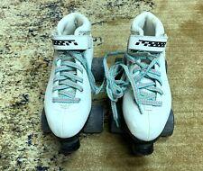 Riedell Carrera Quad Speed Roller Derby Skates Women's Size 7 White Sure Grip