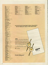 Publicité Advertising 1981 Montres Emile Pequignet bijoux collection