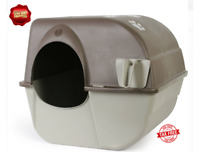 Self Cleaning Cat Hooded Litter Box Extra Large Pan Enclosed Jumbo Kitty House