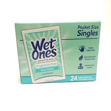 Wet ones Sensitive Skin Hand And Face Wipe Fragrance Free 24 individually wrap