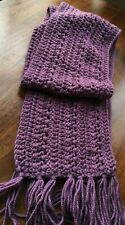 Women Handmade  Crocheted Chunky Scarf Wool Blend