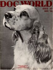 Vintage Dog World Magazine November 1944 Cocker Spaniel Cover