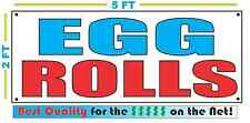 EGG ROLLS Banner Sign NEW Larger Size Best Quality for The $$$ Fair Food