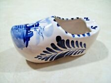 Blue Delfts Hand Painted Clog Shoe Ashtray Holland Windmill