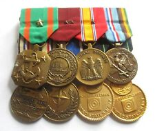US NAVY MEDAL GROUP OF 8 / BATTLE STARS / MOUNTED FOR WEARING