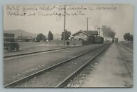 Montague CA Train Depot RPPC Siskiyou County California—Railroad Photo Antique