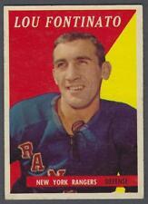 1958-59 Topps New York Rangers Hockey Card #41 Lou Fontinato