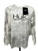 HUK Mens Kryptek Icon Shirt Performance Fishing Yeti Long Sleeve Small NEW