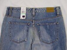 Tommy Hilfiger Womens 8 Preppy Chic Blue Distressed Jean Denim Pants J487 NWT