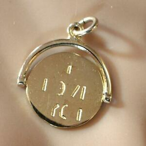 9ct gold new I LOVE YOU spinner charm