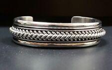 Native American Sterling Silver Navajo Handmade Tom Hawk Cuff bracelet 57.10 Gr