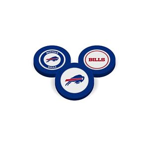 Team Golf Buffalo Bills Poker Chips With Magnetic Ball Marker  2 Sides. 3 UNITS