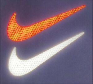 Nike Swoosh Logo 3M Reflective Stickers Decals Reflector Pack Car Bike Laptop
