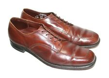 Men's FOOT-SO-PORT Supreme VTG Brown Leather Oxford Shoes Size 11 AAA