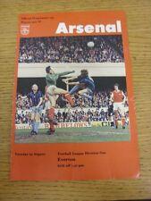 23/08/1977 Arsenal v Everton  (Folded)