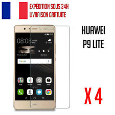 LOT X 4 VITRE FILM DE PROTECTION VERRE TREMPE HUAWEI P9 LITE