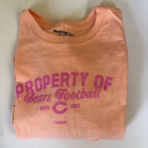 Reebok Chicago Bears Women's Long Sleeve Bears Football T-shirt Size M Orange