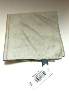 $35 Ryan Seacrest Distinction Textured Solid Silk Pocket Square Natural Tan NEW