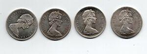 4 ea. 1965 Silver $1's including SB P5 & B5 and LB P5 & B5