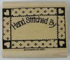"""Hand Stitched By RUBBER STAMP Quilt Frame New Stampin Up 1993 1-7/8 x 1-1/4"""""""