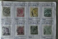 8 sellos stamp Straits Settlements  colonias British usados