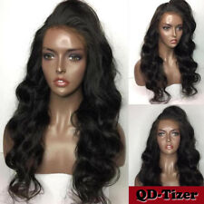 Synthetic Lace Front Wigs Heat Resistant Body Wave Black Women Baby Hair Beauty