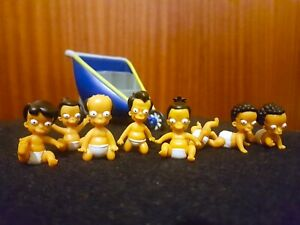 WOS The Simpsons THE OCTUPLETS Action Figures - Playmates 2003 - Complete RARE
