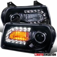 05-10 Chrysler 300 Smoke Tinted Projector Headlights+LED DRL Signal Lights