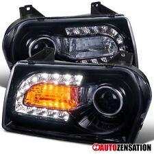 05-10 Chrysler 300 Smoke Tinted Projector Headlights+LED DRL Signal Lights