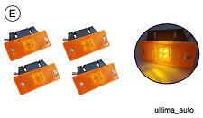 4 pcs 24V 4 LED Side Marker Amber Lights TRUCK LORRY TRAILER BUS Plastic Holder