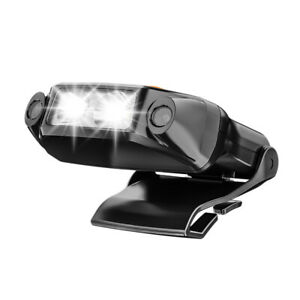 Rechargeable USB Headlight Clip Cap Lamp Waterproof Outdoor Sensor Night Light