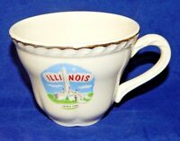 "Vintage Souvenir Tea Cup Illinois Lincoln Tomb Porcelain Gold Trim 2.25"" Tall"