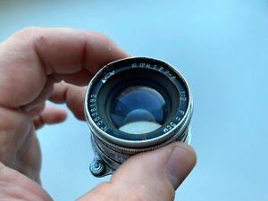 1955 JUPITER-8 Red P 50mm Silver Lens Leica LTM M39 Soviet Sonnar copy
