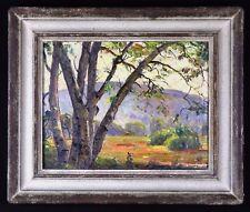 EARLY CA LANDSCAPE PETER NIELSEN (1873-1965) CA JOHN TRUMBULL ART GALLERY LABEL