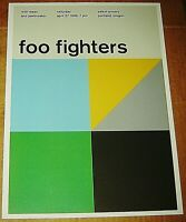 FOO FIGHTERS DAVE GROHL ROCK CONCERT POSTER SWISS PUNK GRAPHIC POP ART PORTLAND