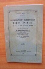 LYCEE BUFFON DISTRIBUTION SOLENNELLE DES PRIX FAITE LE 13 JUILLET 1937