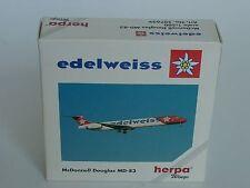 Herpa Wings md-83 Edelweiss - 507639 - 1/500