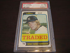 1974 TOPPS # 63 T N.Y. YANKEES BILL SUDAKIS PSA GRADED EX MT 6