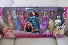 Disney 7 Princess Collection Merida Cinderella Ariel Rapunzel Snow White Belle