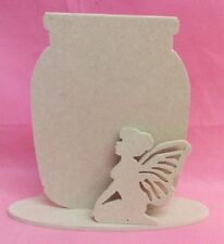 Fairy Jam Jar Craft 4 mm en blanc MDF en Bois