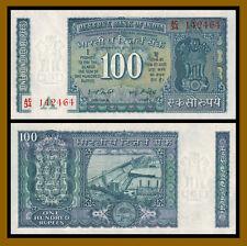 India 100 Rupees, 1977-1982 P-64d Sig# 82 Water DamUnc