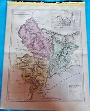 Old Map 1900 France Département Alpes Maritimes Nice Grasse Cannes Antibes