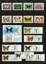 (YYAZ 781) Vietnam 1976, 1989 Lot of 16  stamps Butterflies