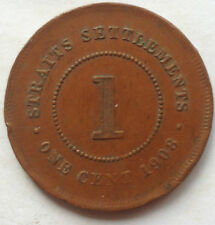 Straits Settlements 1 cent 1908 coin