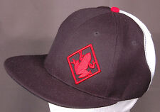 Red Frog Hat-Black/Red/White-Strait Bill, Snap Back-100% Acrylic-3D Logo