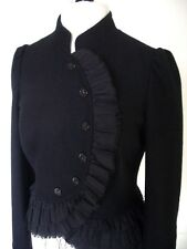 RARE TOPSHOP BLACK FITTED JACKET RIDING VICTORIAN EDWARDIAN STEAMPUNK UK 8