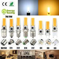 E12 E11 E17 G8 BA15D E14 G4 G9 LED Dimmable COB Ampoule Chandelier Spot Light NF